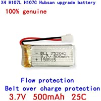 Fytoo 3.7V 500mAh 25C Battery For Hubsan X4 H107 H107L H107C H107D V252 JXD385 X11 X11C X5C X5SC RC Quadcopter Drone High Quality Battery Spare Part - Compare prices on radiocontrollers.eu