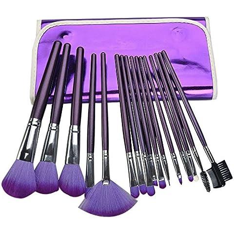Y&HY&L 16 pennello trucco professionale set di pennelli trucco cosmetico con conformità materiale lana di alta qualità non si stacchi
