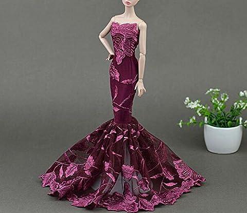 AK010 Abendkleider: Schöne und modische Handgefertigte Puppe Kleidung/ Kleid Rock(Puppen nicht im Lieferumfang enthalten) (schwarz 1)