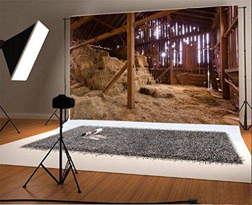 YongFoto 3x2m Vinilo Fondos Fotograficos Granero madera