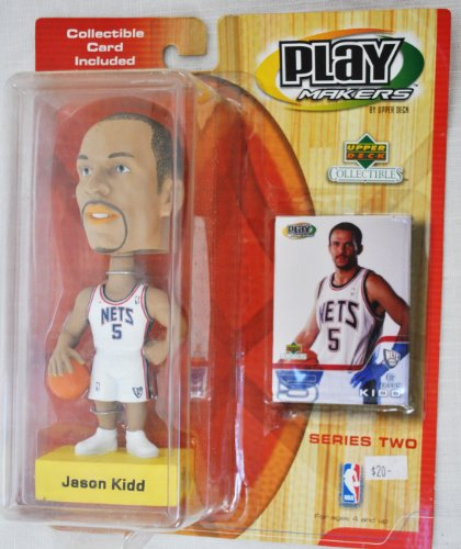 New Jersey Nets star #5 Jason Kidd official NBA Upper Deck Playmakers Bobble card set Bobblehead by Upper Deck