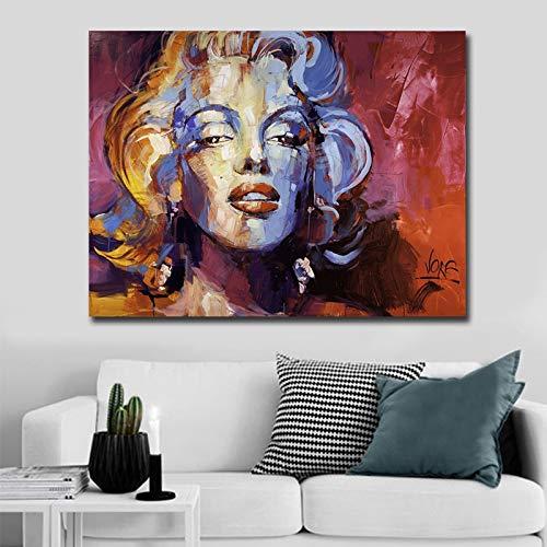haotong11 Dropshipping Leinwand Malerei Poster Monroe Dekoration Moderne Marilyn Foto auf Wand Gedruckt Malerei kein Rahmen 40 * 60 cm