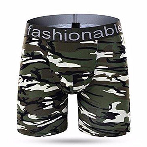 Ai.Moichien Biancheria intima di cotone camuffamento sportivo maschile Pantaloni anti-usura pantaloni da bagno CP06: C