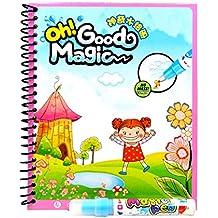 Meliya Kids Dibujo Libros Doodle Magic Pen Agua Pintura libro temprana educación aprendizaje juguete, color Fairy Tales