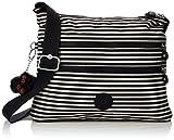 Kipling Damen Alvar Umhängetasche, Mehrfarbig (Marine Stripy), 15x24x45 centimeters