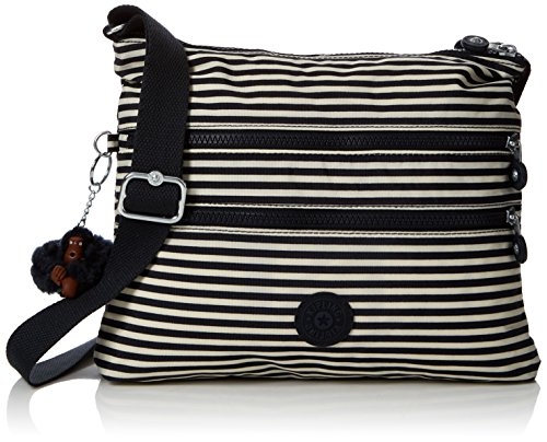 Kipling Alvar, Women's Cross-body Bag, Multicolour (Marine Stripy), 15x24x45 Cm (W X H X L)