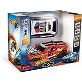 Hot Wheels - Car RC, coche con 2 carrocerías intercambiables y luces (Mondo Toys 63256)