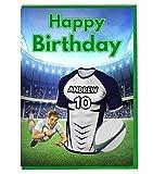 Maillot de rugby sur le thème carte d'anniversaire-Agen Couleurs-personnalisé avec un nom et numéro