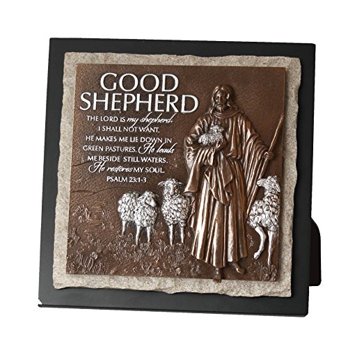 Lighthouse Christian Products Cast Stone Jesus Nails & Crown Wall Cross, bronze, 7 1/2 x 7 1/2