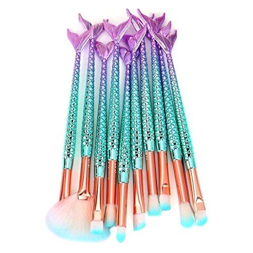 SamMoSon New Arrived Makeup Brushes SamMoSon Professional Make Up Foundation Eyebrow Eyeliner Blush Cosmetic Concealer Brushes Kits (11PCS )