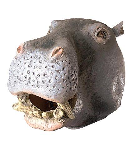 ex Maske Nilpferd, grau (Latex Maske Nilpferd)