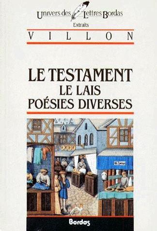 VILLON/ULB TESTAM.POESIE (Ancienne Edition) par Villon