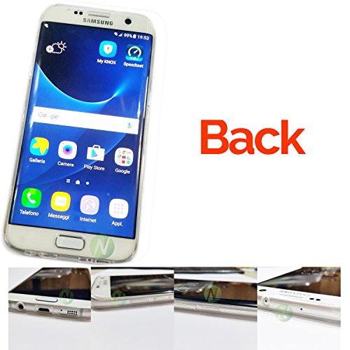 "S7 Edge Back Cover Samsung Galaxy S7 Edge G935 Case Soft Gel Transparent ""FLEX PROTECTION"" + Capacitive Stylus"