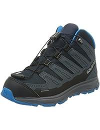 Salomon Zapatos para niños Kids Sinapsis MID 368910 Negro Deep Blue Gris Denim Blue metilo
