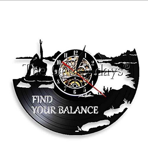 TIANZly Finden Sie Ihre Balance Yoga Inspiration Zitat Wandkunst Führen Nachtlicht Yoga Logo Studio Stimmung Beleuchtung Yoga Klassenzimmer Dekoration Raumdekoration (Halloween 2 Film Zitate)