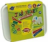 Feuchtmann Spielwaren 6280317 - Juniorknet Knete Midi Box, 7 Stangen in Vorratsbox, 17-teilig