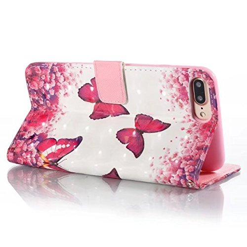 Cover iPhone 7 Plus,iPhone 8 Plus Coque,Portefeuille multi-parche Valenth Leather 3D Etui [Slots pour cartes] Coque Etui pour iPhone 8 Plus / iPhone 7 Plus 7#