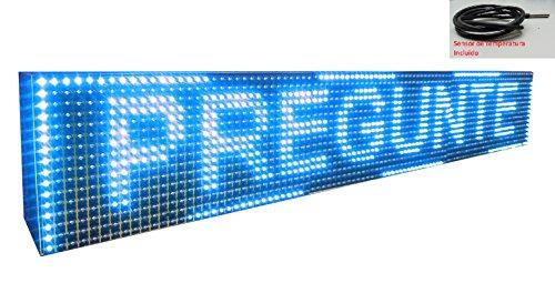 Schild LED programmierbar mit Sensor Temperatur- und Text-Uhr/Programmierbar Schild/Display programmierbar/Display/Programmierbare LED Leuchtreklame/Elektronische Uhr/Wimpelkette 96x16 - Leuchtreklame Uhr