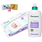 Himalaya Herbals Baby Lotion (400ml)+Himalaya Herbals Gentle Baby Wipes (12 Sheets) With Happy Baby Luxurious Kids Soap With Toy (100gm)