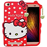 BRK Cute Cartoon Hello Kitty Silicone With Pendant Back Case Coer For Xiaomi Redmi 5A (Red)