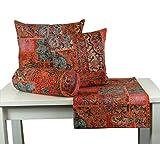 beties PersischPatch Tischdecke ca. 130x220 cm 100% Baumwolle marokkanischer Wohnstil in der Farbe abendrot