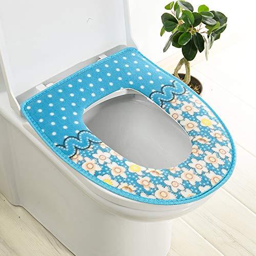 Trap-o-ring (BAOZIV587 2er-Pack WC-Sitzkissen Haushalt Toilettendeckel Aufkleber Wc Trap Waterproof Universal-Wc-Sitzmatte Summer, Blue Pastel Glue)