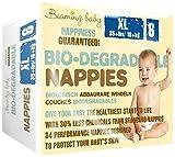 Beaming Baby Biologisch abbaubar Extra große Windeln, Packungen von 4(136Windeln)