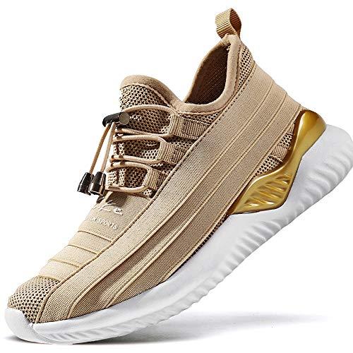 ASHION Kinder Turnschuhe Jungen Sport Schuhe Mädchen Kinderschuhe Sneaker Outdoor Laufschuhe für Unisex-Kinder(B-Gold,31 EU)