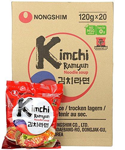 Nong Shim Kimchi Ramyun - 20 Packets