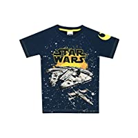 Star Wars Boys Millenium Falcon T-Shirt Ages 3 to 15 Years