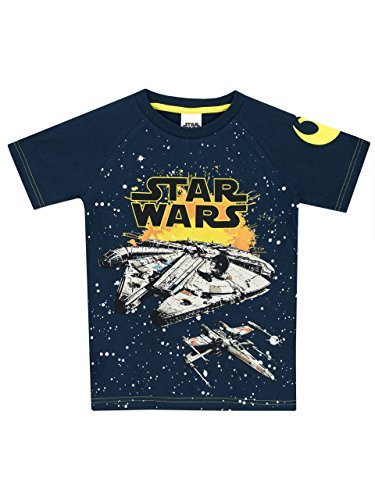 Star Wars Jungen Millennium Falke T-Shirt 128 (Gelbes T-shirt Fighter)