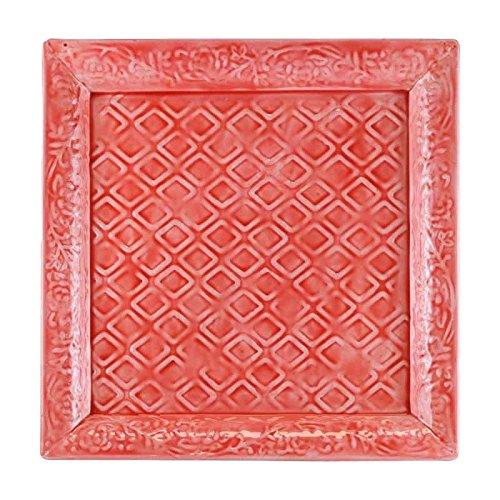 Better & Best 2781308Tablett, emailliert Quadratisch, Mit Relief-Muster, 30,5x 30,5x 2cm