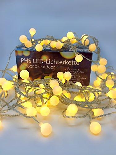 LED-Lichterkette in Kugelform - romantischer Lichtzauber für drinnen und draußen