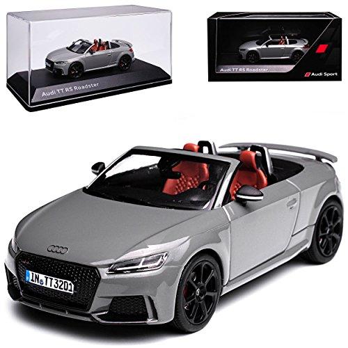 alles-meine GmbH Audi TT RS FV 8S Roadster Cabrio Nardo Grau 3. Generation Ab 2014 1/43 Kyosho i-Scale Modell Auto mit individiuellem Wunschkennzeichen