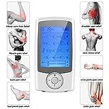 DECMAY Wiederaufladbare TENS Einheit Muskelstimulator 16 Therapiemodi mit 8 Pads, TENS EMS Elektronische Schmerzlinderung Mini-Puls-Massagegerät Maschine