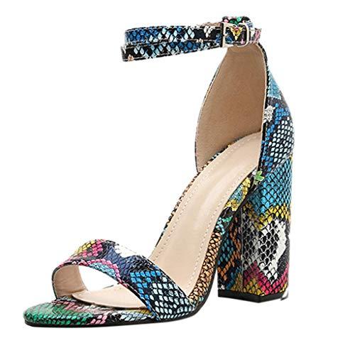FRAUIT Sandalo Donna Tacco Quadrato Scarpe Ragazza Tacco Alto Sexy Sandali Estivi Donne Con Tacco Medio E Largo Sandali della Cintura della Caviglia Da Cerimonia Sandali Ragazze Estive Eleganti