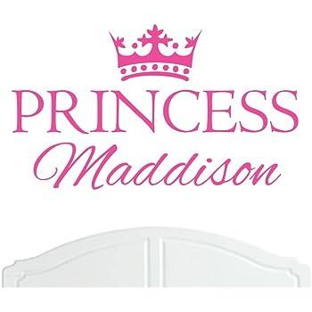 Crown Princess Maddison Large Wall Sticker//Vinyl Bed Room//Nursery Art Girl//Baby