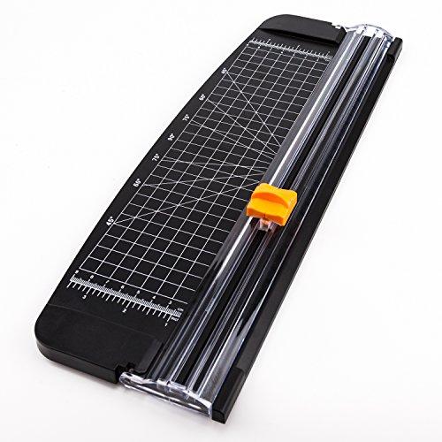 AIEX Papierschneider A4 Papierschneidegerät Tragbare Papierschneidemaschine Fotoschneider Guillotine mit automatischem Sicherheitsschutz für Hause und Büro