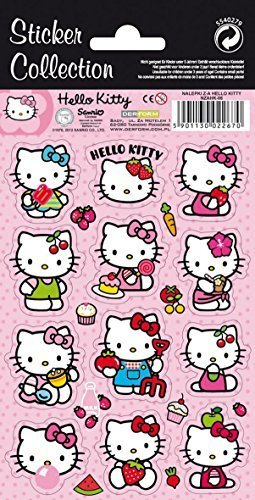(12 Hello Kitty stickers-sticker Collection)