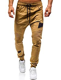 3b777b4ec diandianshop Men s Drawstring Classic Joggers Pants Zipper Pockets Sport  Sweat Pants