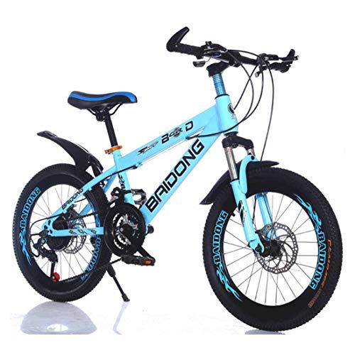 MUYU Kinderfahrrad 20,22 Zoll Für Mädchen Und Jungen Ab 8 Jahre Kinderrad Mountainbike Fahrrad Für Kinder,Blue,20inch -