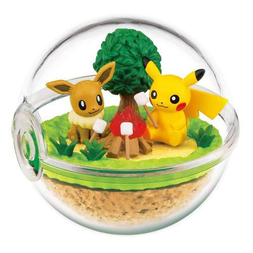 Preisvergleich Produktbild Nintendo Pokemon Center Original Pokeball Terrarium Figure Along with Pikachu~133 Eievui Eevee Evoli