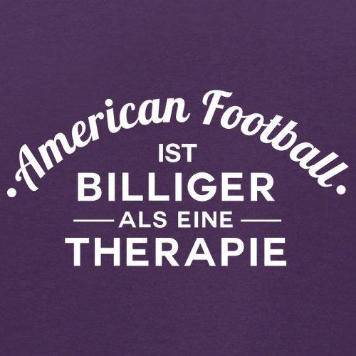 American Football ist billiger als eine Therapie - Herren T-Shirt - 13 Farben Lila