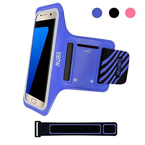 EOTW Sportarmband Handyhülle universell passend für Samsung Galaxy S7/S6/S5, Ideal für Sport, Freizeit aber auch in der Arbeit praktisch zu verwenden (5,1 Zoll, Blau) (Lg Case Galaxy L90)