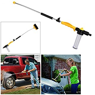 Tooltime Water Zoom Jet Power Pressure Washer Lance Garden Hose Attachment with Soap Dispenser and Brush - Ideal for Washing Cars, Cleaning Decking, Paths, Driveways, Fences etc.