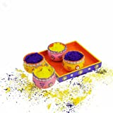 #2: Gulaal Containers Teracotta with Yellow and Blue Colours