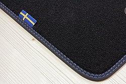 tuning-art D103 Auto Fußmatten Schweden-Design Bandeinfassung Steppnaht