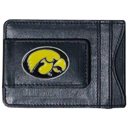 Siskiyou NCAA Bargeld- und Kartenetui aus Leder, Iowa Hawkeyes - Iowa Leder