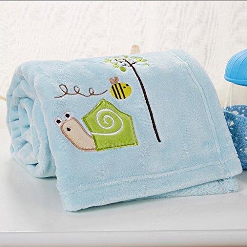 Rollsnownow Blaue Schnecke Muster Babydecke Quilt Polyester Material Winter Kindergarten für Baby Design (100 * 150 cm)