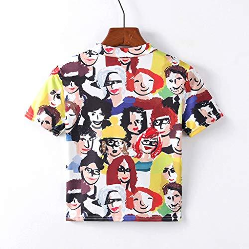 Damen Cartoonmuster Top Und Short Zweiteilig Sleepwear Pyjama Set